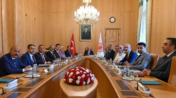 TBMM Başkanı Yıldırım, Bursa heyetini kabul etti