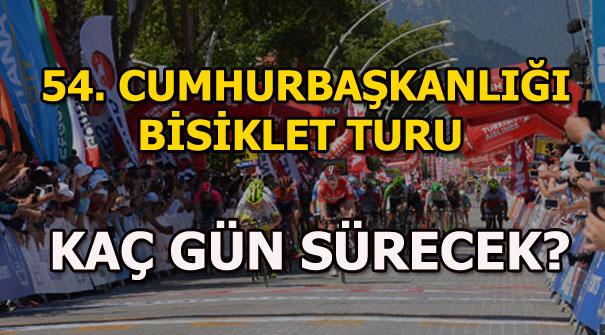 54. Cumhurbaşkanlığı Bisiklet Turu ne zaman İstanbul'da? İşte etaplar...