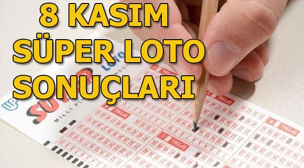 Süper Loto sonuçları açıklandı! 8 Kasım Süper Loto çekiliş sonuçları...