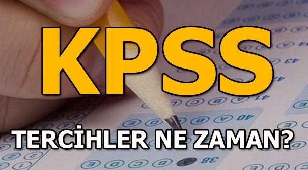 KPSS tercihleri için tarih açıklandı mı? KPSS 2018 tercihleri ne zaman?