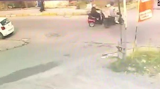Engelli sürücüye çarpıp olay yerinden kaçtı