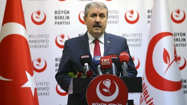 BBP Genel Başkanı Destici: Cumhur İttifakı'na bağlıyız