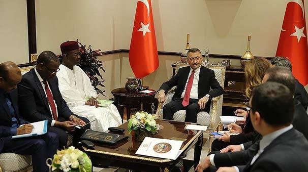 Cumhurbaşkanı Yardımcısı Oktay, Moussa'yı kabul etti