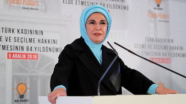 Emine Erdoğan: 'Kadınlarımızın yerel yönetimlerde söz sahibi olmasını destekliyoruz'