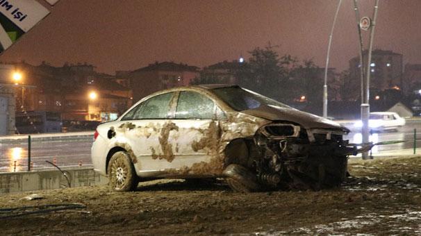 Denizli'de trafik kazaları: 2 yaralı