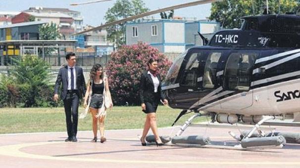 Meriç Aral ve Çağlar Ertuğrul'un helikopter turu