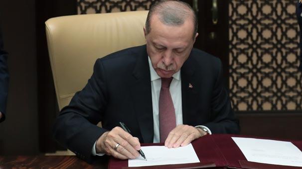 Cumhurbaşkanı Erdoğan imzasıyla yayımlandı! Yenileri kuruldu...