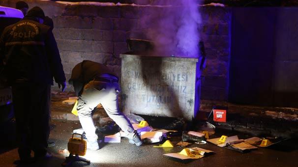 Konteynerin yandığını görenler, polise haber verdi! İçinden bakın neler çıktı