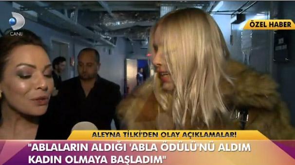 Aleyna Tilki: Ablaların aldığı 'abla ödülünü' aldım!