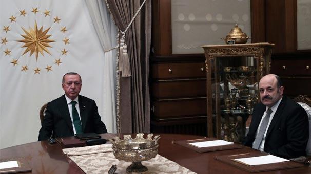 Cumhurbaşkanı Erdoğan, Yekta Saraç'ı kabul etti