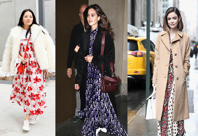 Kışın maksi elbiseler nasıl kombinlenir?