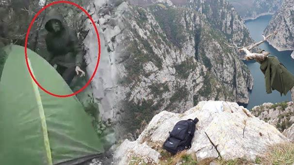 Kanyonda kaybolan gencin son görüntüsü ortaya çıktı
