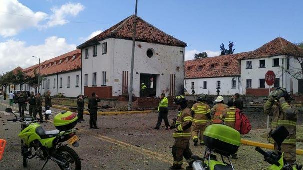 Kolombiya'da polis okuluna bomba yüklü araçla saldırı