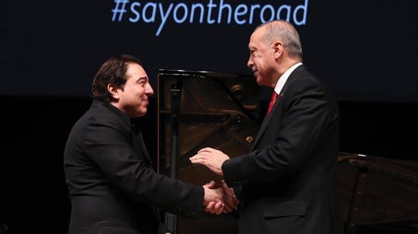 Cumhurbaşkanı Erdoğan, Fazıl Say'ın konserinde