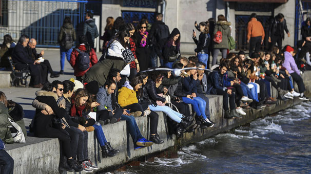 Yer: İstanbul! Bu fotoğraf bugün çekildi