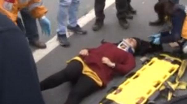 Basın Ekspres Yolu'nda dehşet! Genç kadın kendisini seyir halindeki araçtan attı