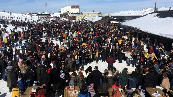 Erciyes hafta sonu 110 bin kişiyi ağırladı