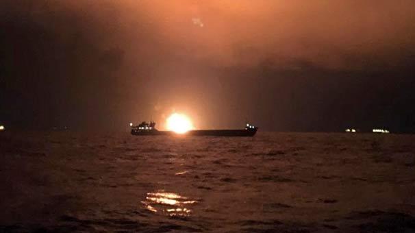 Son dakika | Kerç Boğazı'nda iki gemi alev alev yandı! Gemilerde Türkler de bulunuyordu...