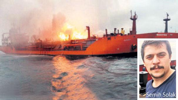 Kerç Boğazı'ndaki gemi yangınında ölen Semih Solak'ın evinde yas var
