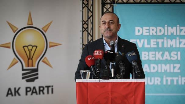 Bakan Çavuşoğlu: 'Sırtını Kandil'e dayayanlarla, talimatı PKK'dan alanlarla ittifak yapmıyoruz'