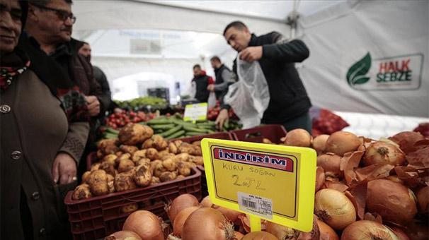 Tanzimnoktalarında 297,7 ton sebze satıldı