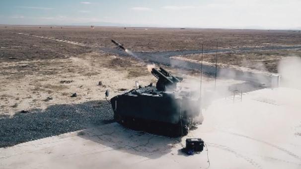 Türkiye'nin tank avcısı milli füzeyle vurdu