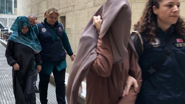 'Kırmızı bülten'le aranan 2 kadın adliyeye böyle getirildi