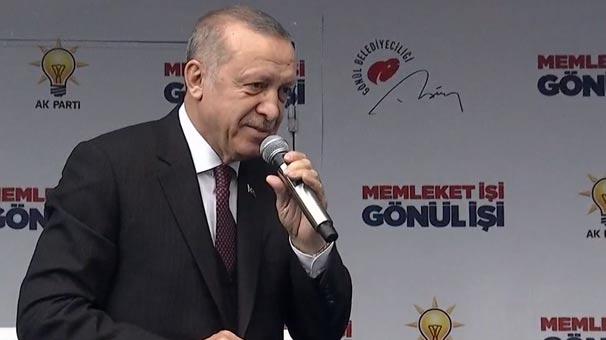 Cumhurbaşkanı Erdoğan Muğla'da  konuşuyor
