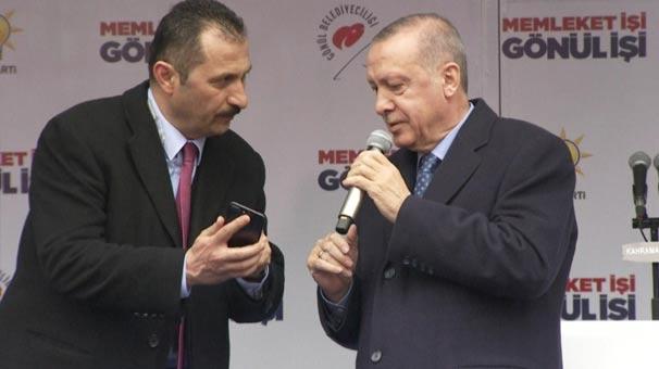 Cumhurbaşkanı Erdoğan konuşmasına ara verdi