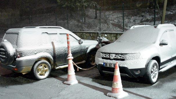 Ve beklenen kar yağışı Kırklareli'de başladı