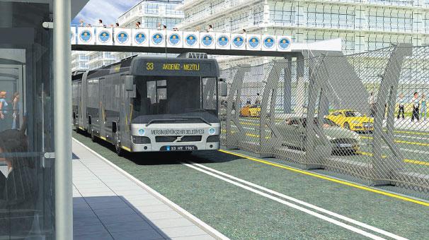 Mersin'e metrobüs geliyor