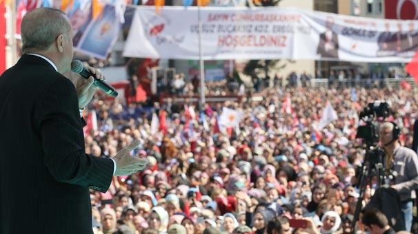 Cumhurbaşkanı Erdoğan Ereğli'de konuşuyor