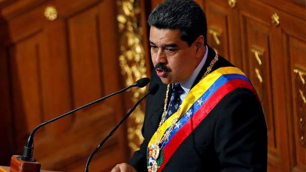 Maduro'dan flaş açıklama: 5 milyar dolarımız rehin alındı