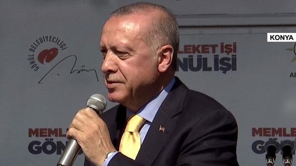 Cumhurbaşkanı Erdoğan Konya'da konuşuyor