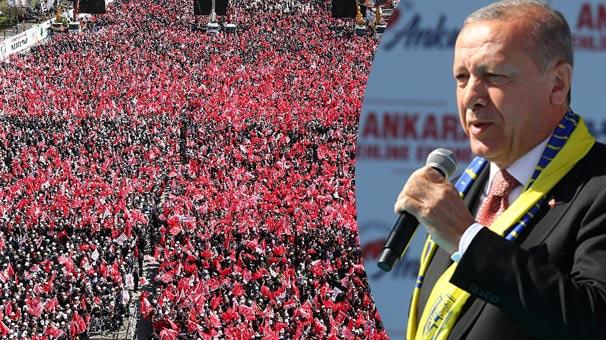 Cumhurbaşkanı Erdoğan 450 bin kişinin katıldığı mitingde müjdeyi verdi: Yıl sonu açılıyor