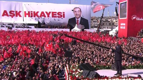Cumhurbaşkanı Erdoğan'dan Yenikapı'da döviz resti