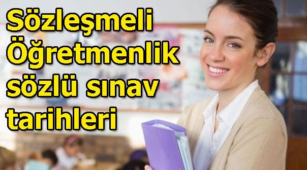 Sözleşmeli öğretmenlik sözlü sınavları ne zaman? MEB açıkladı...
