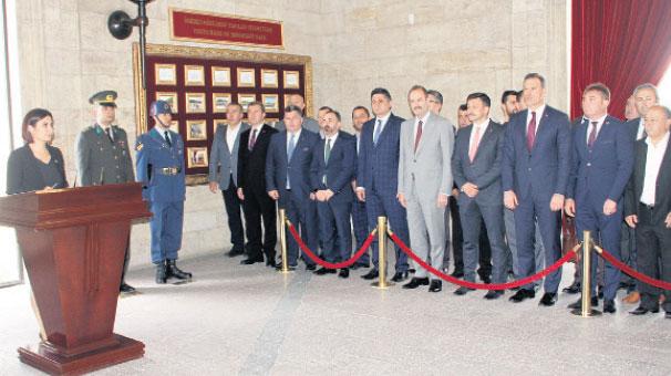 'Cumhur İttifakı'nın Anıtkabir ziyareti