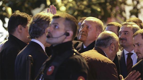 Cumhurbaşkanı Erdoğan, vatandaşlarla sohbet etti