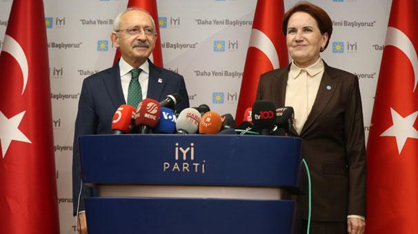 Görüşme sonrası Kılıçdaroğlu ve Akşener'den ortak açıklama