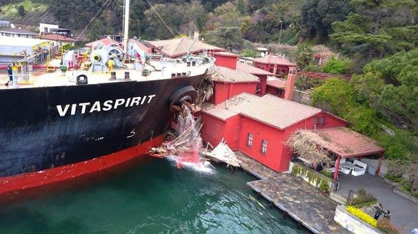 Tarihi yalıya çarpan geminin sahibine rekor sorumluluk