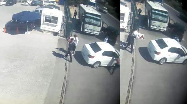 Saniye saniye kaydedildi! Polis aracın camından içeri atladı ve...