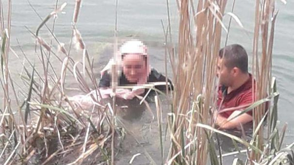 Fırat Nehri'ne atlayan genç kızı kurtardı