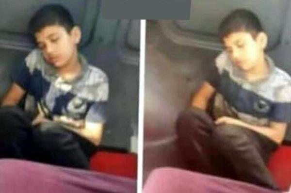 İsyan ettiren görüntü! 'Üzeri kirli çocuğu koltuktan kaldırıp yere oturttu'
