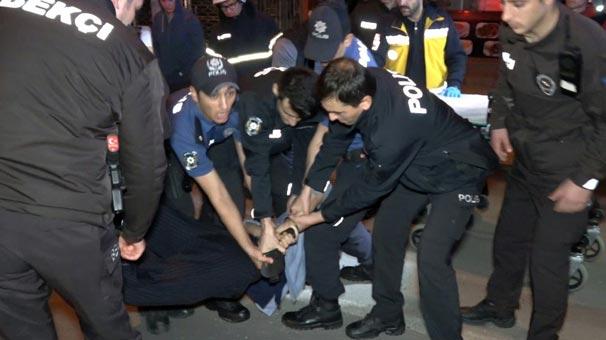 Hareketli saatler! Çok sayıda polis onun için toplandı...