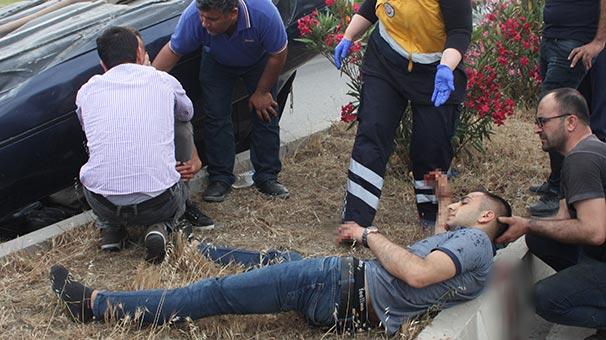 Antalya'da korkunç kaza! 50 metre takla atarak...