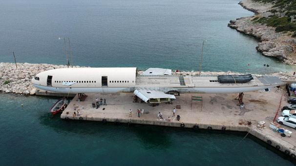 Saros Körfezi'nde batırılacak dev uçağın montajında sona gelindi