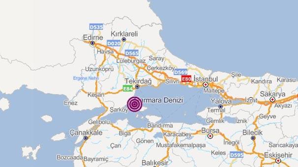 Son dakika: Marmara Denizi'nde korkutan deprem