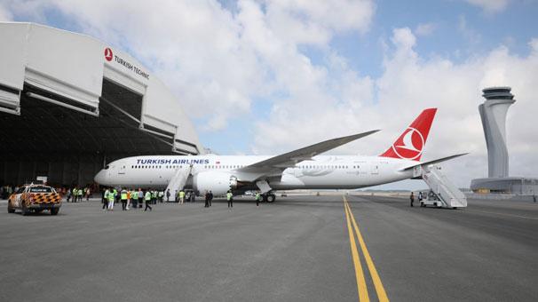 THY'nin 'rüya uçağı' İstanbul'da!